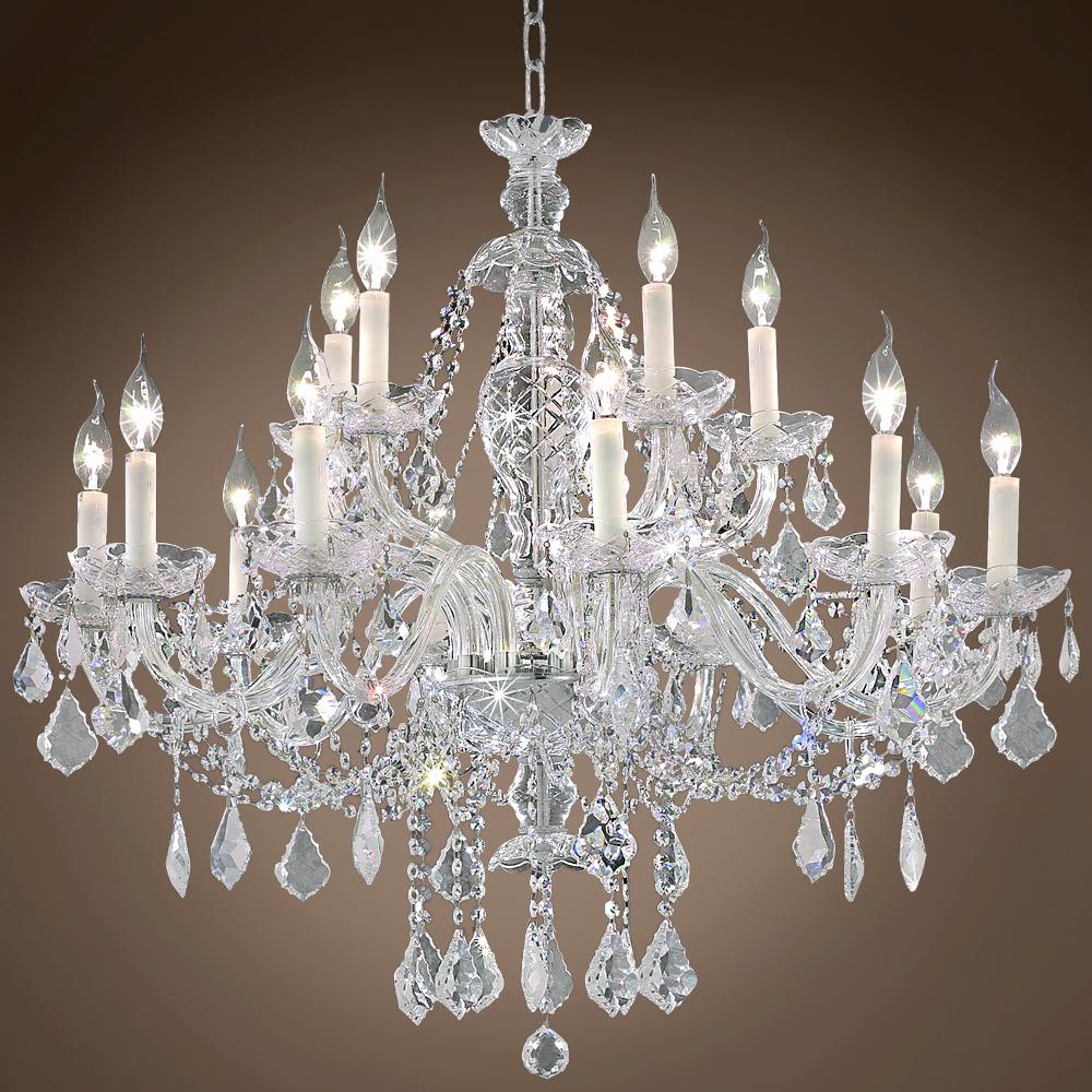Teal Crystal Chandelier Light