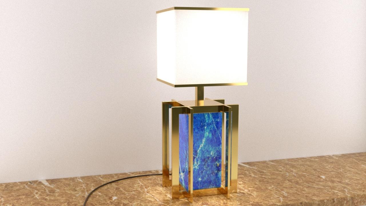 Lampada oro e lapislazzuli