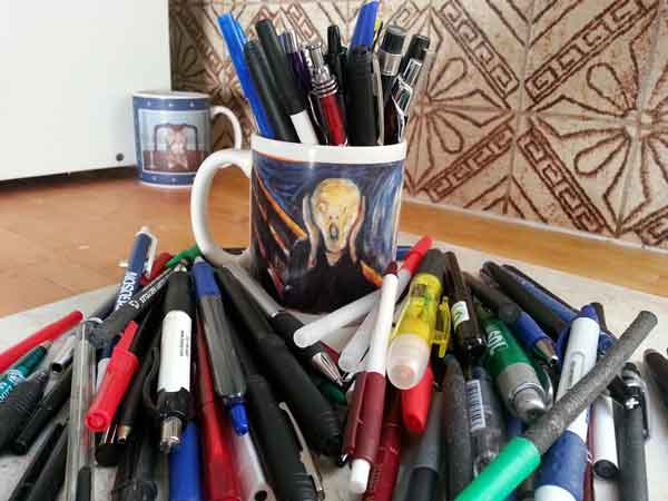 Image result for photos of piles of pens