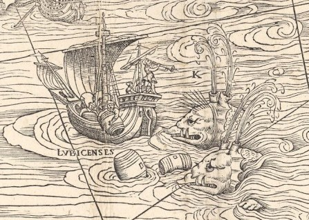 """""""Bestie morskie, wielkie niczym góry, wywracają statki jeśli nie zostaną odstraszone dźwiękiem trąb lub rzucaniem pustych beczek w morze."""""""