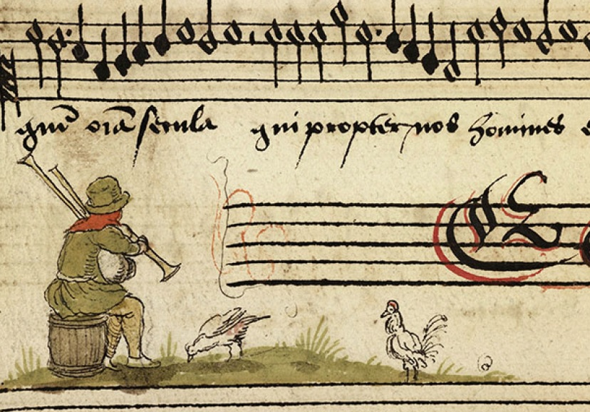 Chansonnier de Zeghere van Male. Muzyka powszechna w miniaturach iluminowanych.