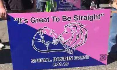 Straight Pride Parade Begins in Boston with Cops, Protesters Out in Force