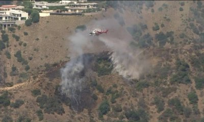 Man Arrested on Suspicion of Arson After Brush Fire in Hollywood Hills West