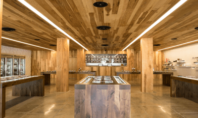 The interior of a MedMen cannabis retail store.