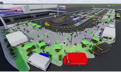 LAX Rideshare and Taxi Pickup Plaza