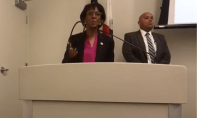 DA Jackie Lacey speaks at Stonewall Democratic Club on October 28, 2019