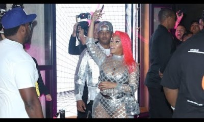 Nicki Minaj Slays In Silver At Fendi Collab Launch Party