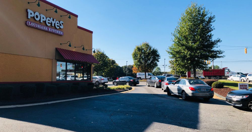 Woman Destroys Her Car at Drive-Thru While Trying to Get a Popeyes Chicken Sandwich