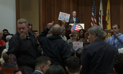 Anti-impeachment protesters, Rep. Adam Schiff clash at Glendale event celebrating passage of Armenian genocide bill