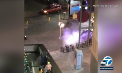 Chase ends in crash near Hollywood & Highland center, shutting down busy tourist attraction caught on video