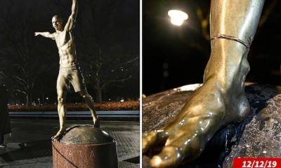 Zlatan Ibrahimovic Doesn't Care That His Statue Keeps Getting Vandalized