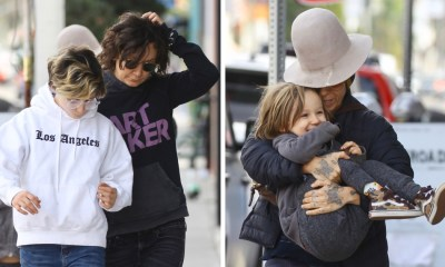 Sara Gilbert and Wife Linda Perry Enjoy Family Lunch Date With Blended Brood of Kids