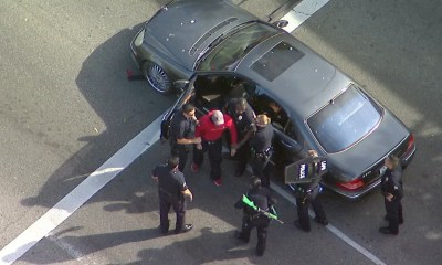 LAPD takes possible DUI suspect in custody after slow-speed chase ends near Beverly Center