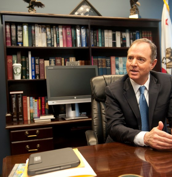Back from eye of impeachment storm, Schiff rekindles local focus