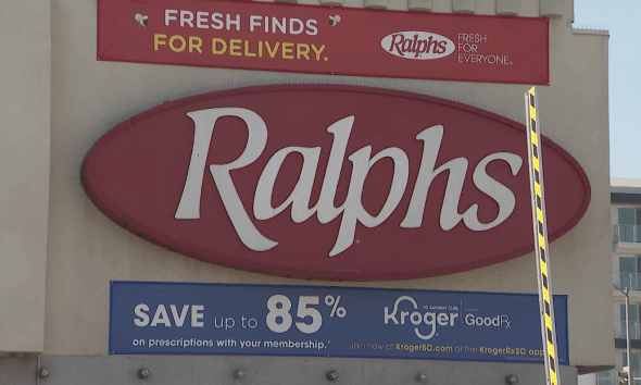Workers protest outside Ralphs in Hollywood where 21 have tested positive for coronavirus