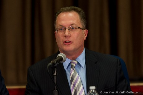 Mayor Jeff Prang at the council debate