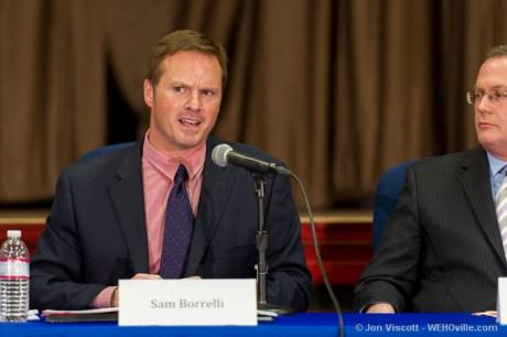 sam borelli at the council debate