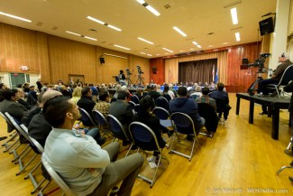 council debate crowd