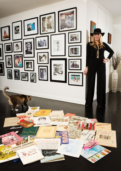 Alison Martino displaying part of her collection of Old Hollywood memorabilia at her Empire West apartment (Photo by Steffanie Walk)