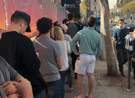 UPDATE: By Noon the Lines for Recreational Pot Were Long Outside WeHo Shops