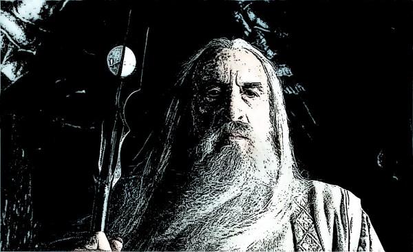 Saruman contemplating his Holy Yogurt