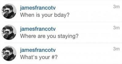 James Franco displays his charm