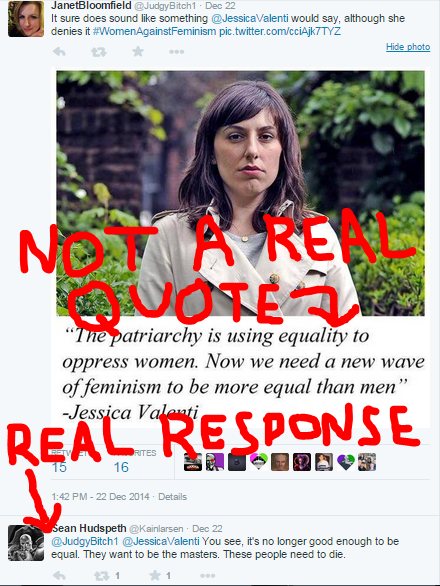Inspired by #GamerGate I have added bright red text and arrows.