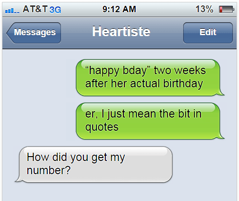 Apparently you can write whatever you want on these fake text message generators