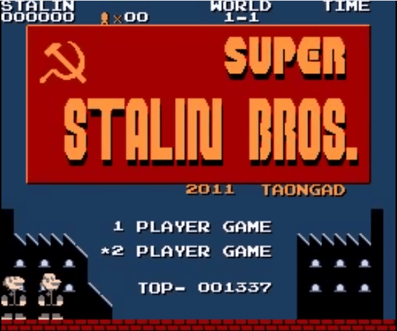 The future of gaming? (Click on pic for Stalin Bros. video.)