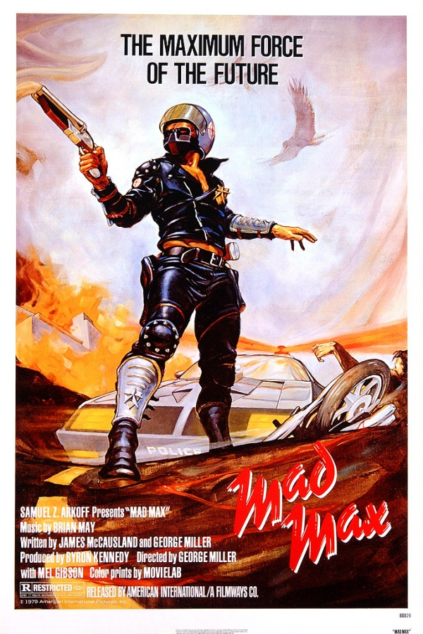 Original poster for the 1979 Mad Max