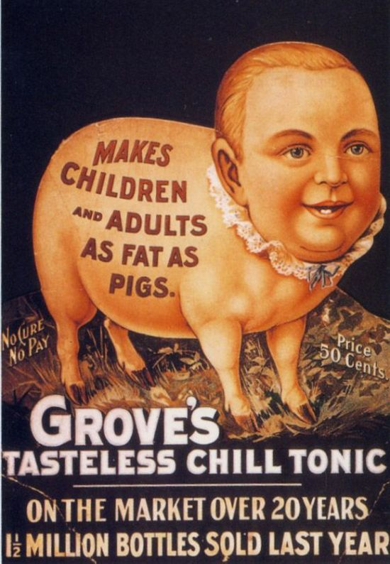 I don't know what the fuck is going on here but whatever you do, DO NOT DRINK ANY GROVE'S TASTELESS CHILL TONIC. I REPEAT, FOR THE LOVE OF GOD DO NOT DRINK GROVE'S TONIC.