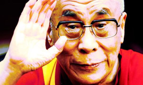 Talk to the hand, because the Dalai Lama isn't listening