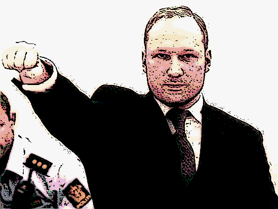 Anders Breivik in court