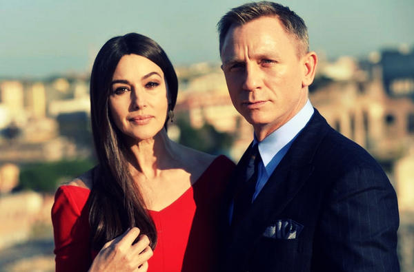 Daniel Craig in the clutches of hideous monster hag Monica Belluci