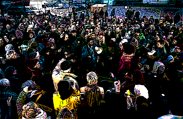 Black Lives Matter protesters in Minneapolis earlier this month
