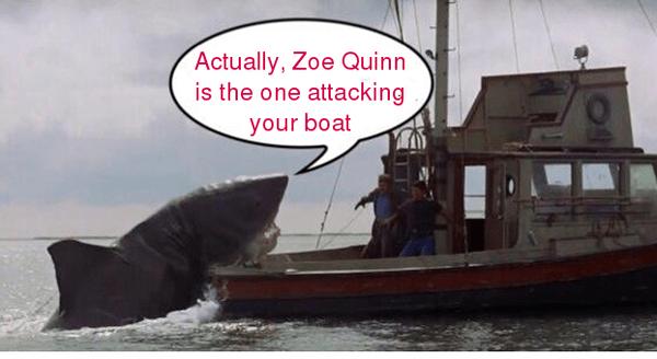 It's always Zoe Quinn's fault, apparently