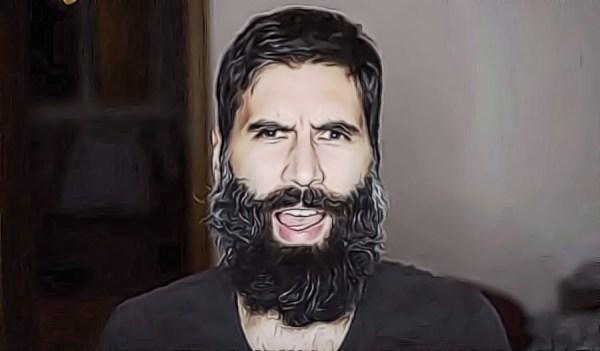 Roosh V, slowly being eaten by a beard