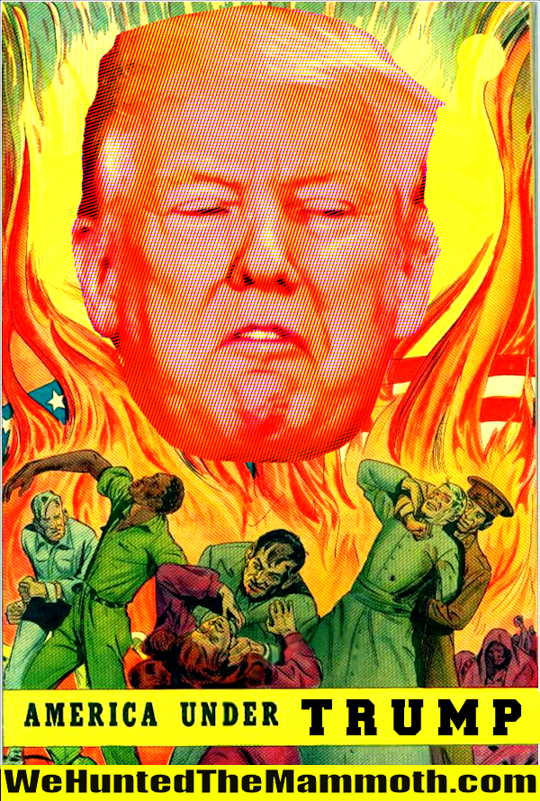 Fight the giant floating head of Trump!