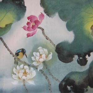 Bird with Lotus