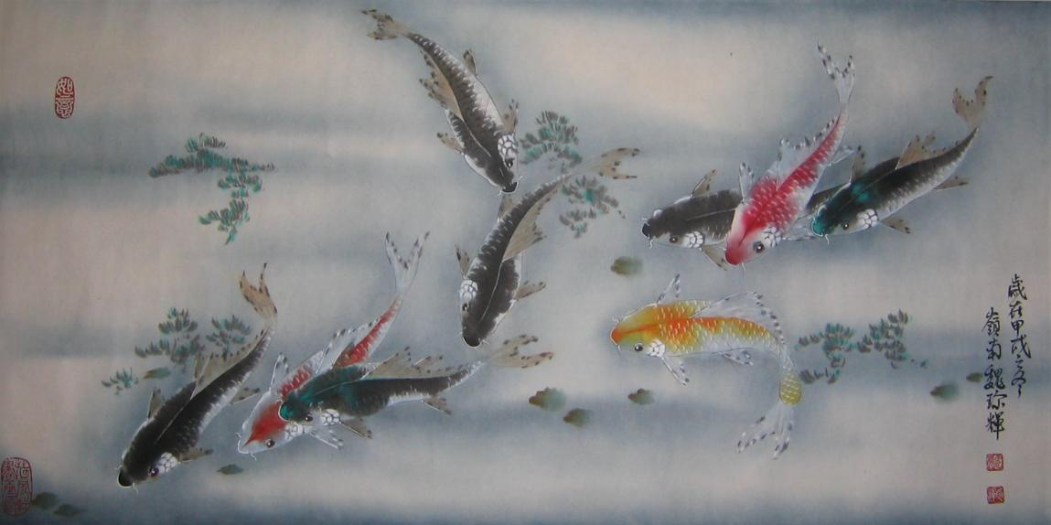 Nine Fishes 九魚圖