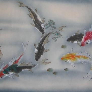 Nine Fishes 九魚圖