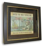 "Image - 1st edition ""Where the Wild Things Are"" in a custom shadowbox"