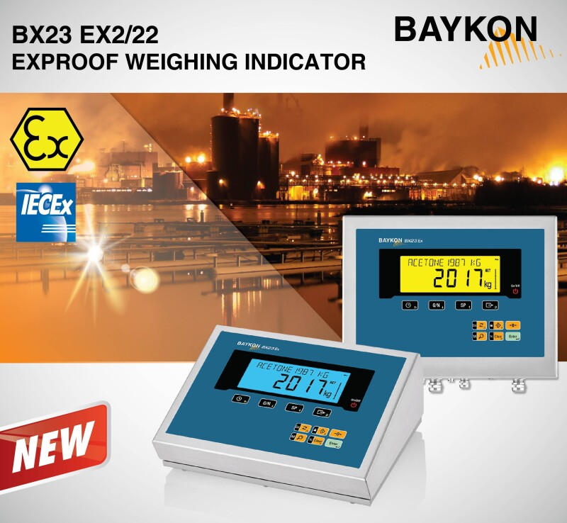 New Adirondacks – BAYKON BX23 Ex2/22 Weighing Indicator