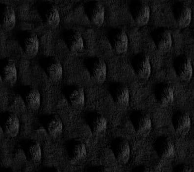 custom weighted blanket Black Minky Dot fabric