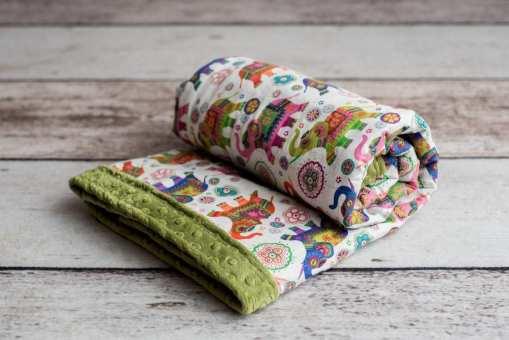 Custom Weighted Blanket Kiwi/Elephants Combo
