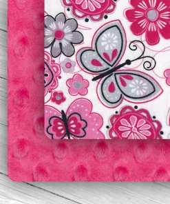 Custom Weighted Blanket Fuchsia/Butterflies Combo