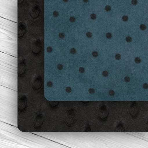 Custom Black/Blue Polka Dot Weighted Blanket combo