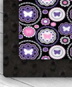 custom weighted blanket butterfly/black combo