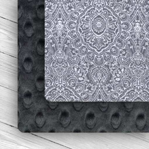 Custom Weighted Blanket combo Ash/Gray Lace