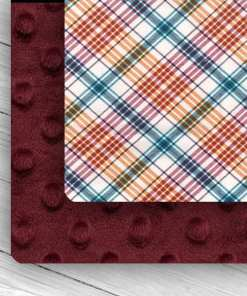 Custom Weighed Blanket Merlot/Plaid Combo